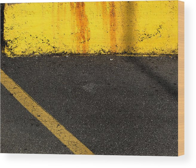 Yellow Wood Print featuring the photograph Yellow And Grey Wc by Lyle Crump
