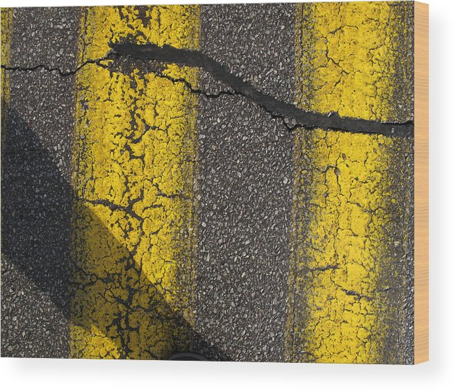Abstract Wood Print featuring the photograph Yellow Paint Wc by Lyle Crump