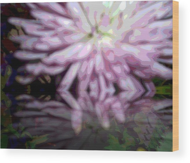 Flower Abstract Wood Print featuring the photograph Zeen That by Patricia Williams