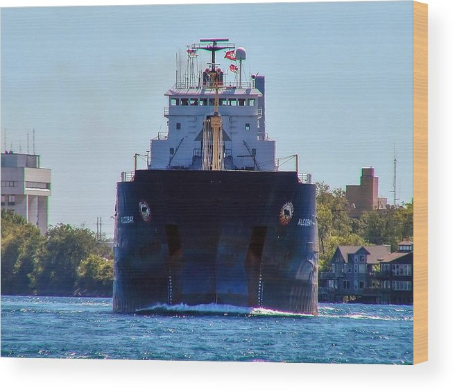 Algobay Wood Print featuring the photograph Algobay At Blue Water Bridge by Kenneth Hein