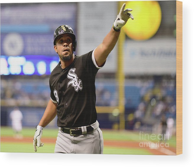 Three Quarter Length Wood Print featuring the photograph Chicago White Sox V Tampa Bay Rays by Julio Aguilar