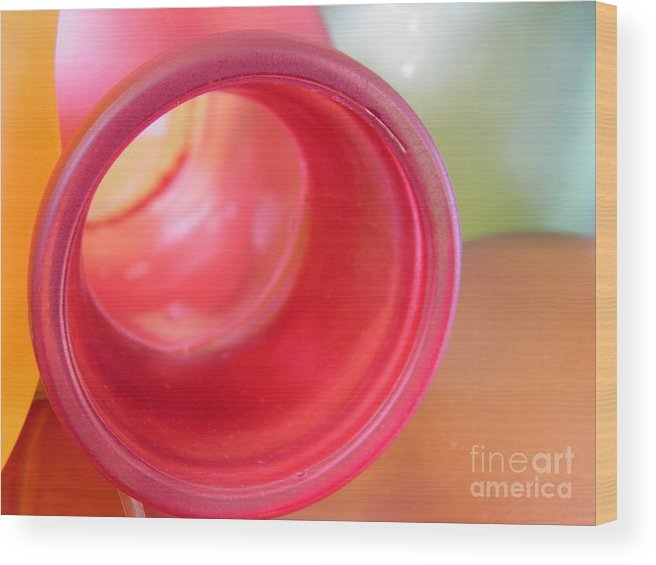 Glass Wood Print featuring the photograph Glass Abstract 719 by Sarah Loft