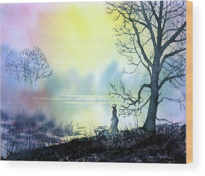 Glenn Marshall Artist Wood Print featuring the painting Solitude by Glenn Marshall