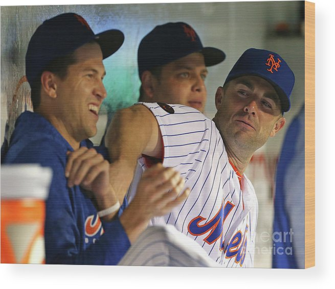 Jacob Degrom Wood Print featuring the photograph Jacob Degrom And David Wright by Rich Schultz