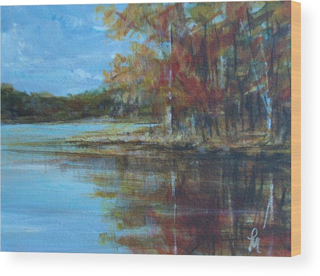 Lakescape Wood Print featuring the painting Better Days by Pete Maier