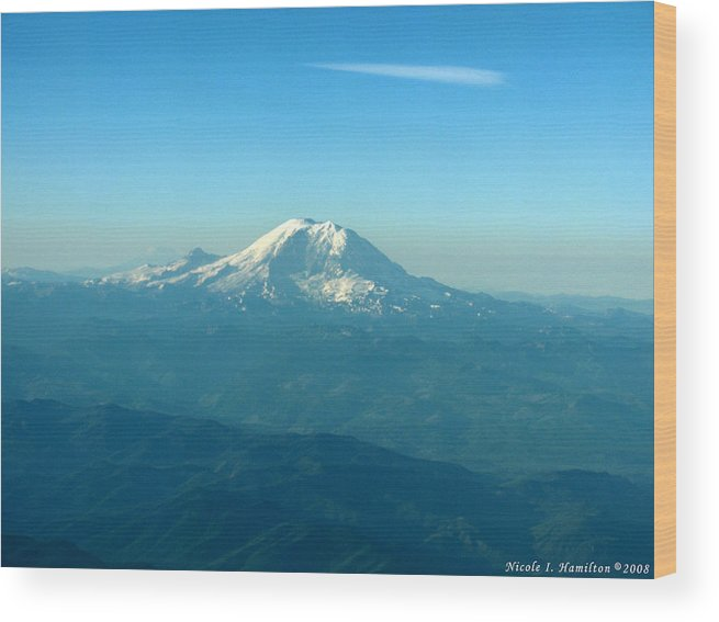 Mountain Wood Print featuring the photograph Distant Mountain by Nicole I Hamilton