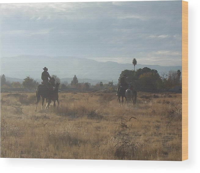 Western Wood Print featuring the photograph On The Range by Janey Loree