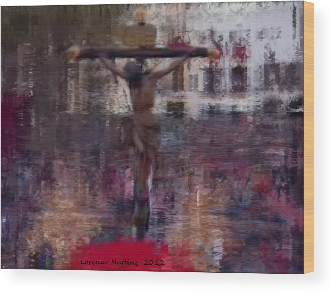 Holy Week Wood Print featuring the painting Semana Santa by Bruce Nutting