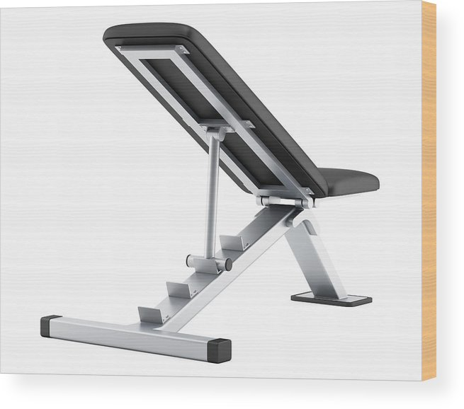 Cool Adjustable Gym Bench Isolated On White Background Wood Print Theyellowbook Wood Chair Design Ideas Theyellowbookinfo