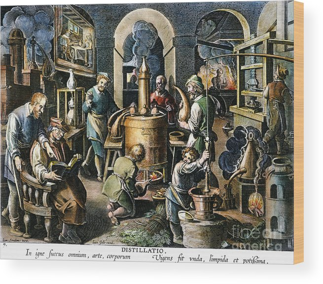 16th Century Wood Print featuring the photograph Alchemy: Laboratory by Granger