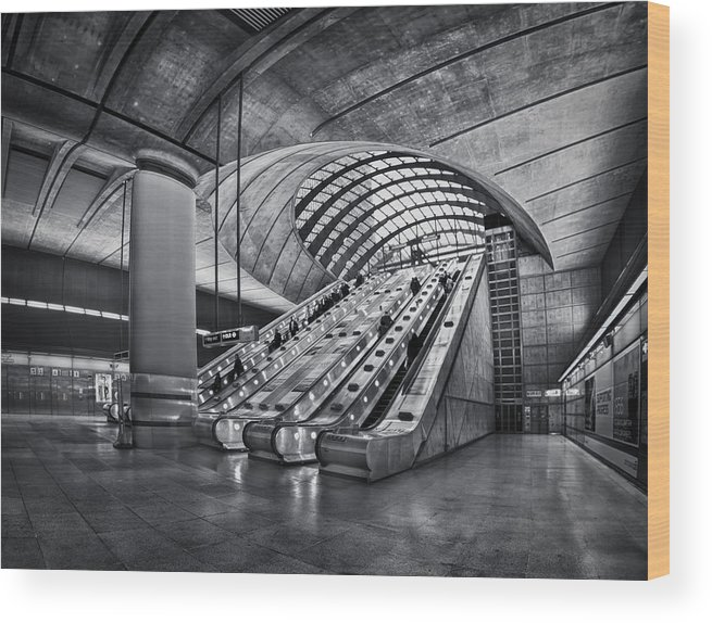 London Wood Print featuring the photograph Beneath The Surface Of Reality by Evelina Kremsdorf