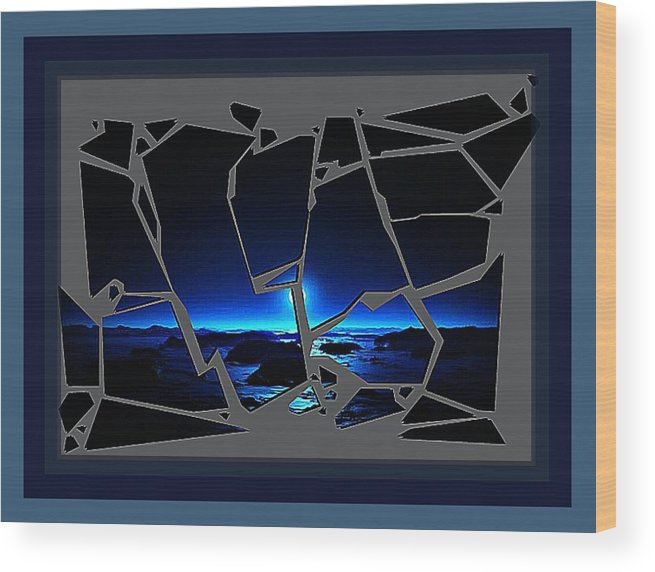 Wood Print featuring the digital art Broken by Tracie Howard