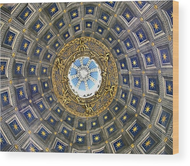 Cherubic Cupola Wood Print featuring the photograph Cherubic Cupola by Ellen Henneke