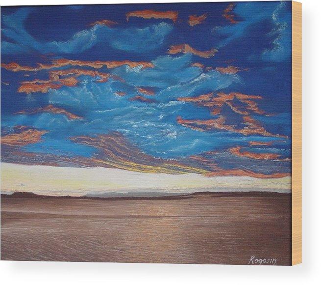 Cape Cod Wood Print featuring the pastel Evening Sky by Harvey Rogosin