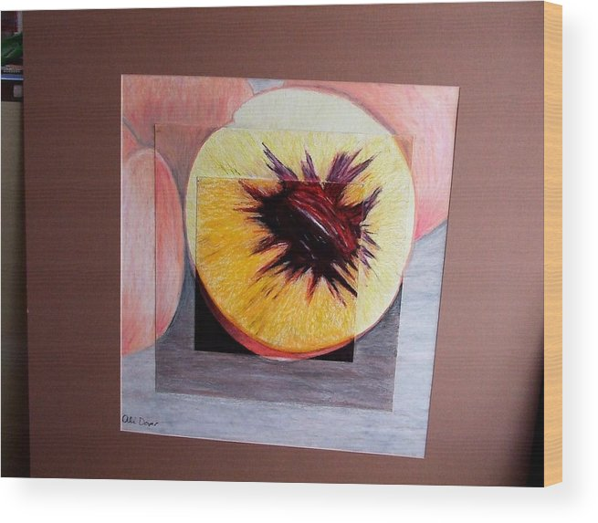 Peach Wood Print featuring the photograph Expanding Peach by Ali Dover