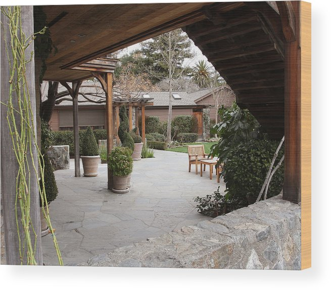 Napa Valley Wood Print featuring the photograph French Laundry by Bob Wantz