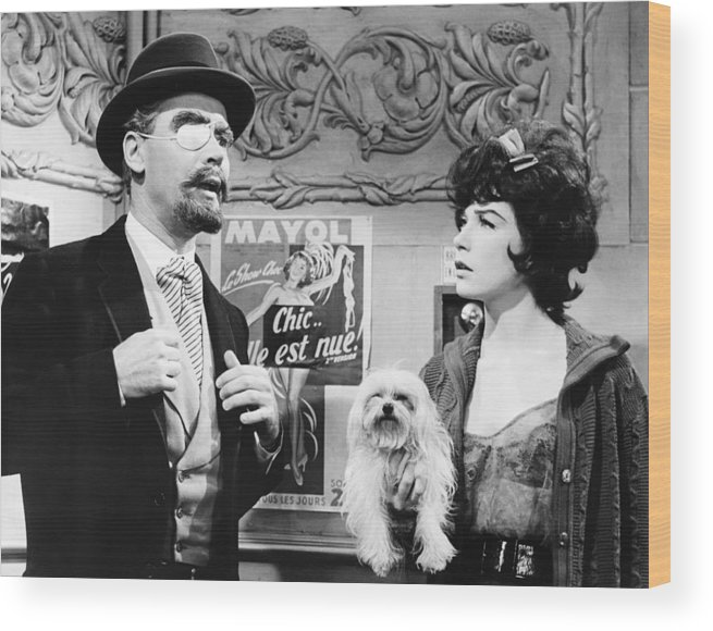 1960s Movies Wood Print featuring the photograph Irma La Douce, From Left Jack Lemmon by Everett