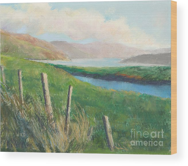 Landscape Wood Print featuring the painting Isle Of Skye IIi by Paula Wild