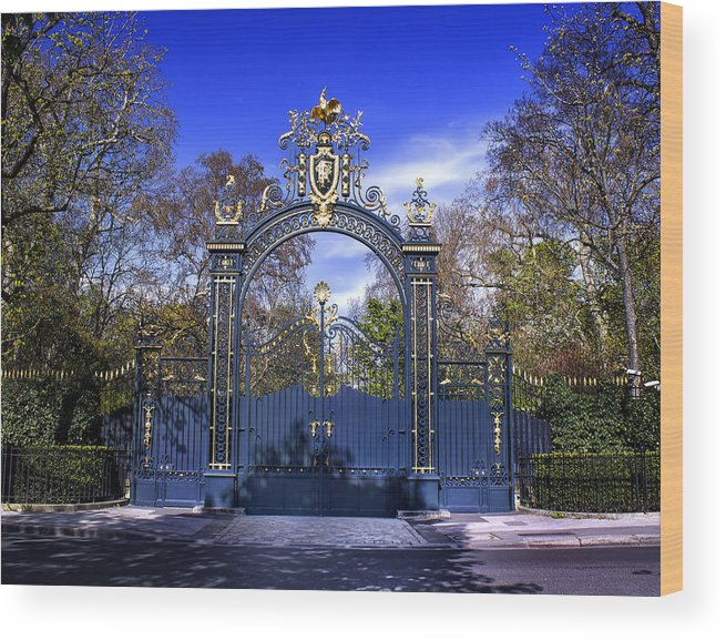 French Wood Print featuring the photograph Palais Elysee Paris by Radoslav Nedelchev
