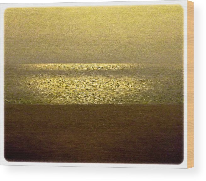 Seascape Wood Print featuring the painting Reflections 95 by Algirdas Lukas