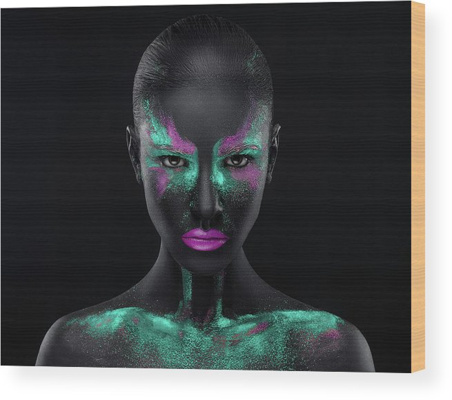 Color Wood Print featuring the photograph Space by Alex Malikov