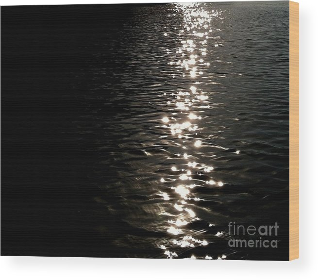 Barton Springs Wood Print featuring the photograph Sunlight Dance by Pruddygurl Exclusives