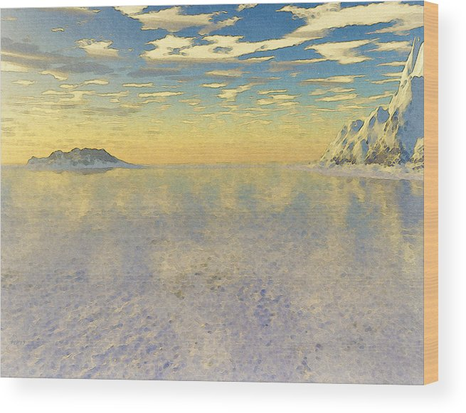 Sunrise Wood Print featuring the digital art Sunrise Over Glacial Bay by Phil Perkins