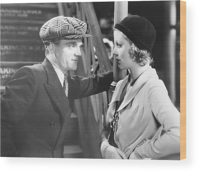 1930s Movies Wood Print featuring the photograph Taxi, From Left James Cagney, Loretta by Everett