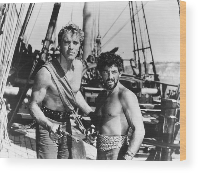 1950s Movies Wood Print featuring the photograph The Crimson Pirate, From Left, Burt by Everett