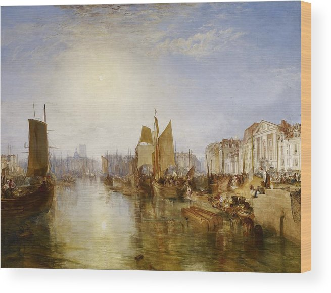 1826 Wood Print featuring the painting The Harbor Of Dieppe by JMW Turner
