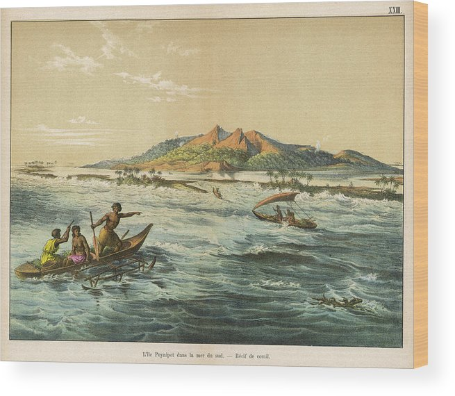 Scenery Wood Print featuring the drawing View Of Puynipet (bonibai) by Mary Evans Picture Library