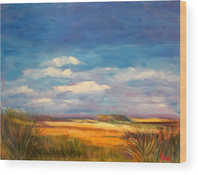 West Wood Print featuring the painting Wide Open Spaces by Fran McDonald Berry
