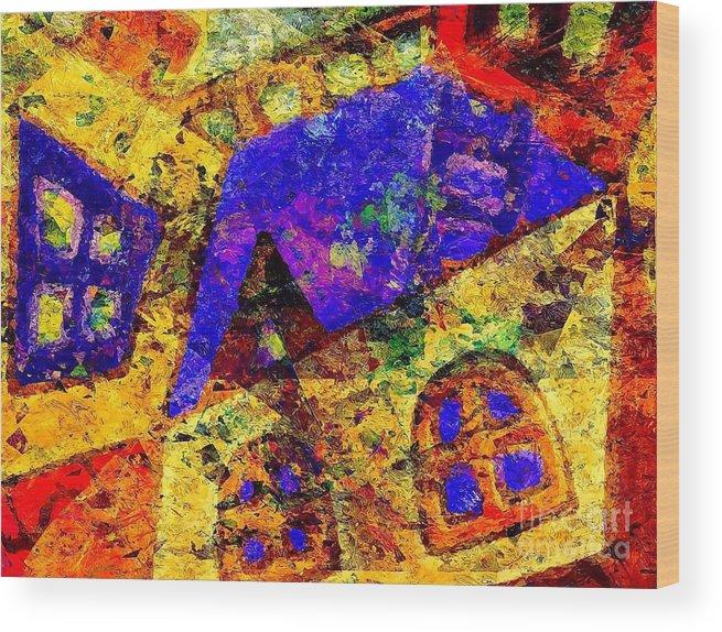 Graphics Wood Print featuring the digital art Abs 0435 by Marek Lutek