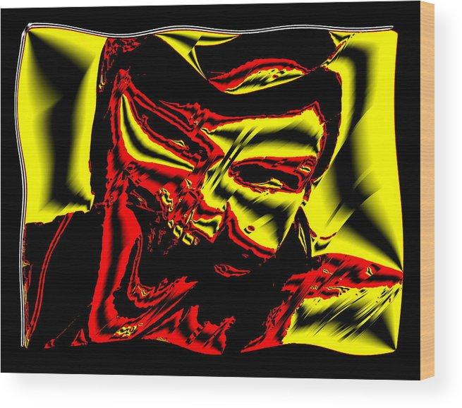 Digital Art Wood Print featuring the digital art Andromeda by Beto Machado