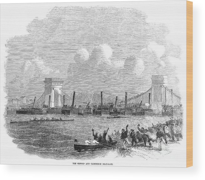 1858 Wood Print featuring the photograph England: Boat Race, 1858 by Granger