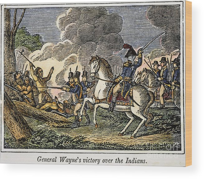 1794 Wood Print featuring the photograph Fallen Timbers Battle by Granger