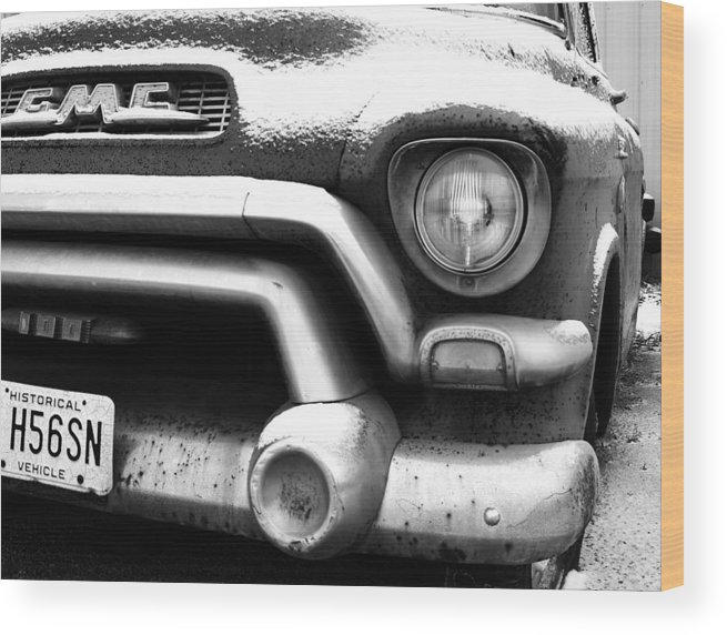 Gmc Wood Print featuring the photograph Gmc Truck by Brian Mollenkopf