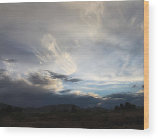 Clouds Wood Print featuring the photograph Jelly Fish by Kathleen Nash