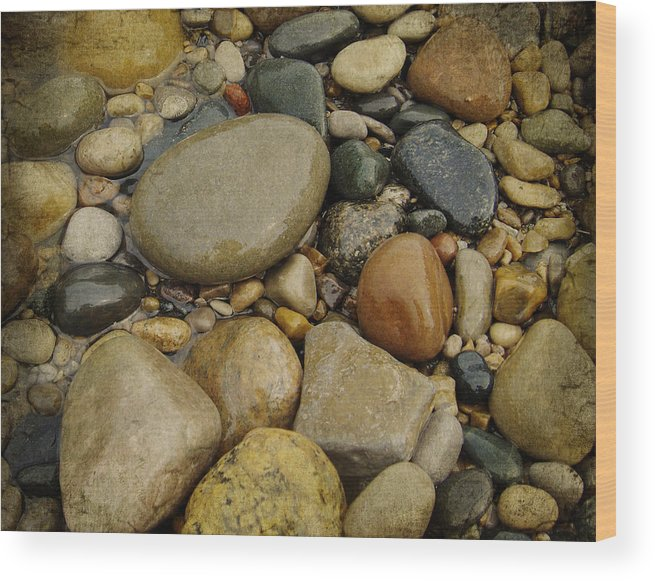Lake Huron Wood Print featuring the photograph Lake Huron Rocks by Lesley Jane Smithers
