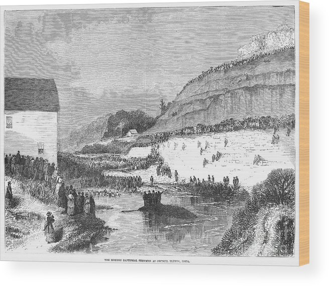 1873 Wood Print featuring the photograph Mormon Baptismal, 1873 by Granger