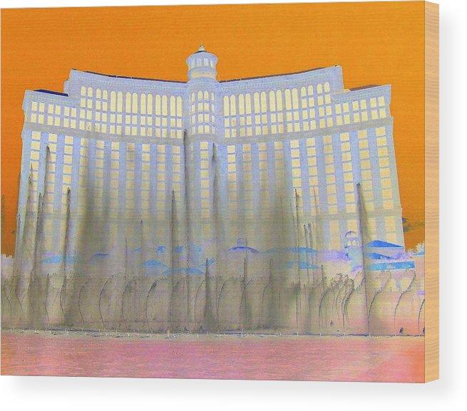 Las Vegas Wood Print featuring the digital art My Vegas Bellagio 3 by Randall Weidner