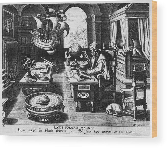 1580 Wood Print featuring the photograph Philosopher, C1580 by Granger