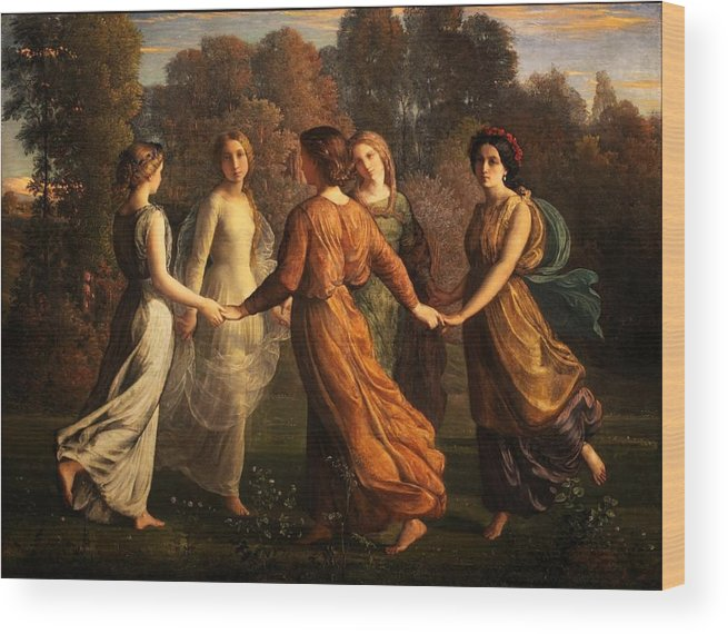Louis Janmot - Poem Of The Soul 13 - Rays Of The Sun Wood Print featuring the painting Poem Of The Soul by MotionAge Designs