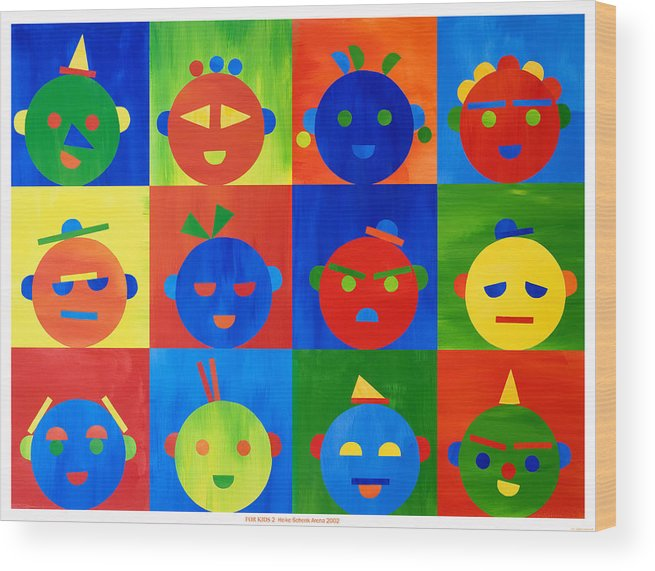Kids Wood Print featuring the mixed media For Kids N.2 by Heike Schenk-Arena