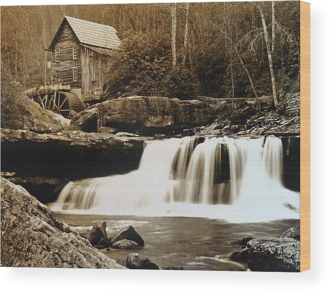 West Virginia Wood Print featuring the photograph Glade Creek Grist Mill by Jack Paolini