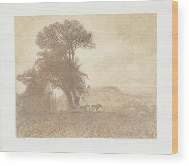 The Earth (la Terre (jesu Wood Print featuring the painting Landscape by Celestial Images
