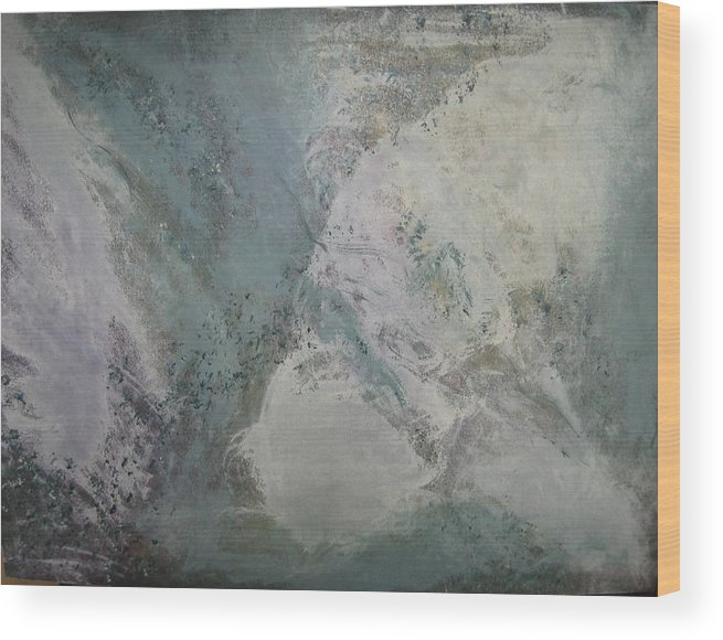 Abstract Wood Print featuring the painting Whirlwind by Sheryl Sutherland