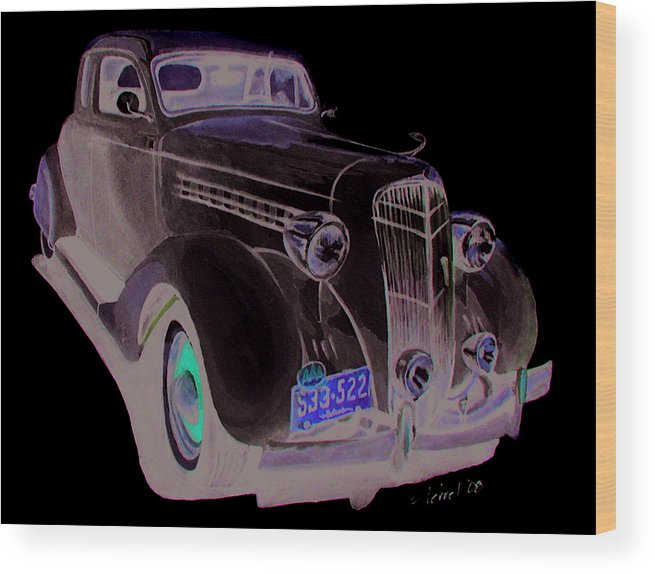 Desoto Wood Print featuring the painting 35 Desoto by Ferrel Cordle
