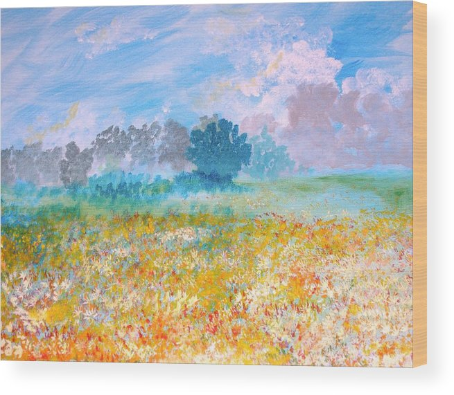 New Artist Wood Print featuring the painting A Golden Afternoon by J Bauer