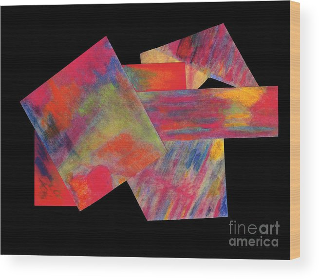 Painting Wood Print featuring the mixed media Abstract 1 by Mary Zimmerman
